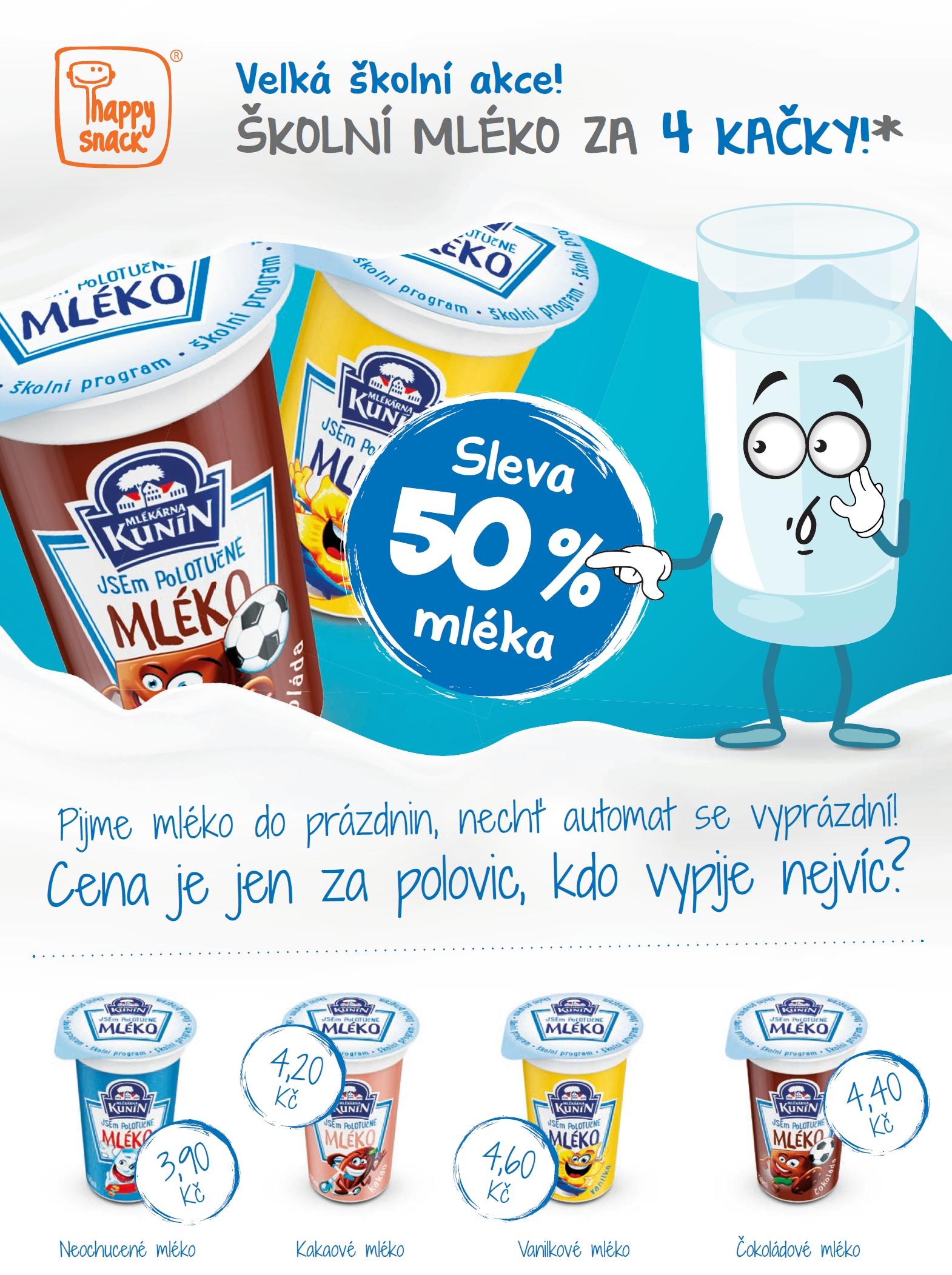 mleko sleva